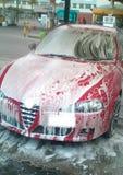 мытье автомобиля пенообразное Стоковые Фотографии RF