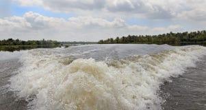 мытье быстроходного катера Кералы подпоров панорамное Стоковые Фото