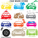 мытье губки машины шланга автомобиля чистое Стоковая Фотография