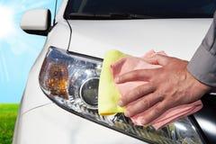 мытье губки машины шланга автомобиля чистое Стоковое Изображение RF