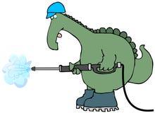 мытье давления динозавра иллюстрация вектора