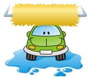 мытье зеленого цвета автомобиля Стоковые Изображения RF