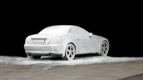 мытье изолированное автомобилем Стоковое Изображение