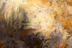 Мытье крася желтую предпосылку Стоковая Фотография