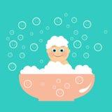 Мытье ребенка Стоковые Изображения