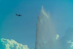 Мытье самолета Стоковое фото RF