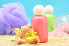 мытье тела Стоковые Фото
