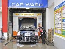 мытье токио автомобиля Стоковые Фото