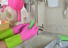 Мыть бокал Стоковое фото RF