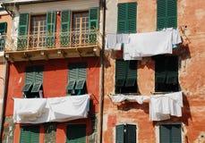 Мыть в Vernazza Стоковые Изображения RF
