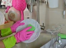Мыть плиту Стоковая Фотография