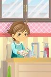 мыть рук мальчика Стоковая Фотография