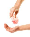 Мыть с жидкостным мылом Стоковые Изображения RF