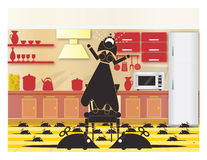 мышей и женщин Стоковое фото RF