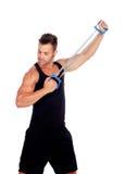 Мышечная тренировка человека стоковое фото
