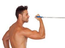 Мышечная тренировка человека стоковое фото rf