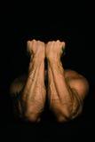 Мышечные рукоятки человека Стоковые Изображения