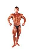 Мышечный человек на белой предпосылке стоковое изображение rf