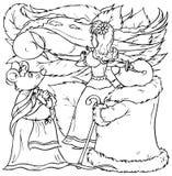 мыши моли девушки ласточка маленькой близкая Иллюстрация вектора