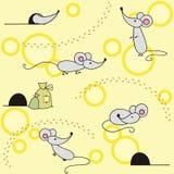 мыши предпосылки милые безшовные Стоковая Фотография RF