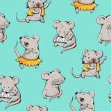 Мыши шаржа Стоковое Изображение