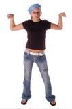 мышца 2 девушок стоковые фото