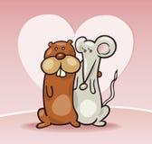 мышь влюбленности хомяка Стоковое Фото