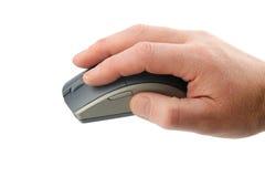 Мышь в руке потребителя стоковые изображения rf