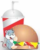 Мышь ест бургер 2 Стоковые Фотографии RF