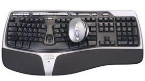 Мышь и клавиатура компьютера стоковая фотография rf