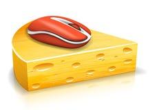 Мышь и сыр Стоковые Изображения RF