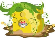Мышь иллюстрации в сыре Стоковые Фото