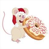 Мышь и donuts Стоковое фото RF