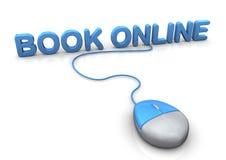 Мышь книги онлайн Стоковое Изображение RF