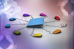Мышь компьютера с папкой файла Стоковое Изображение