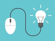 Мышь компьютера, электрическая лампочка Стоковые Изображения