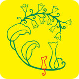 мышь кота Стоковое Изображение RF