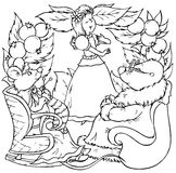 мышь моли девушки маленькая Бесплатная Иллюстрация