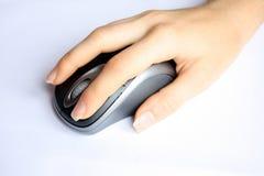 мышь одно компьютера click Стоковое Изображение