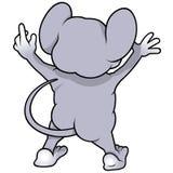 Мышь от задней части Стоковые Фотографии RF