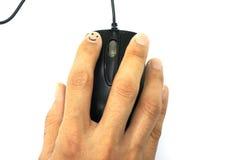 Мышь ПК в руке женщины Стоковое фото RF