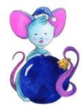 Мышь рождества, символ года иллюстрация штока