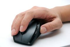 мышь руки компьютера Стоковое фото RF
