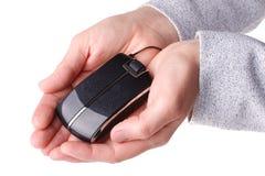 мышь руки компьютера Стоковая Фотография