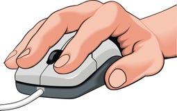 мышь руки Стоковое Изображение