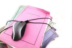 мышь скоросшивателей компьютера стоковое фото rf