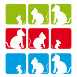 мышь собаки кота Стоковые Изображения RF