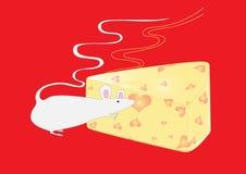 мышь сыра Стоковая Фотография