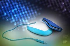 Мышь с папкой файла Стоковое Изображение RF