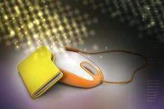 Мышь с папкой файла Стоковые Фото